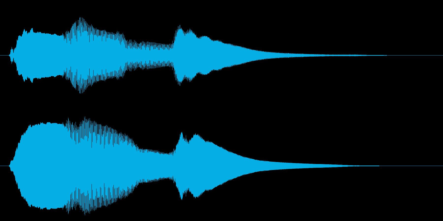 チャイム アナウンス07-5の再生済みの波形