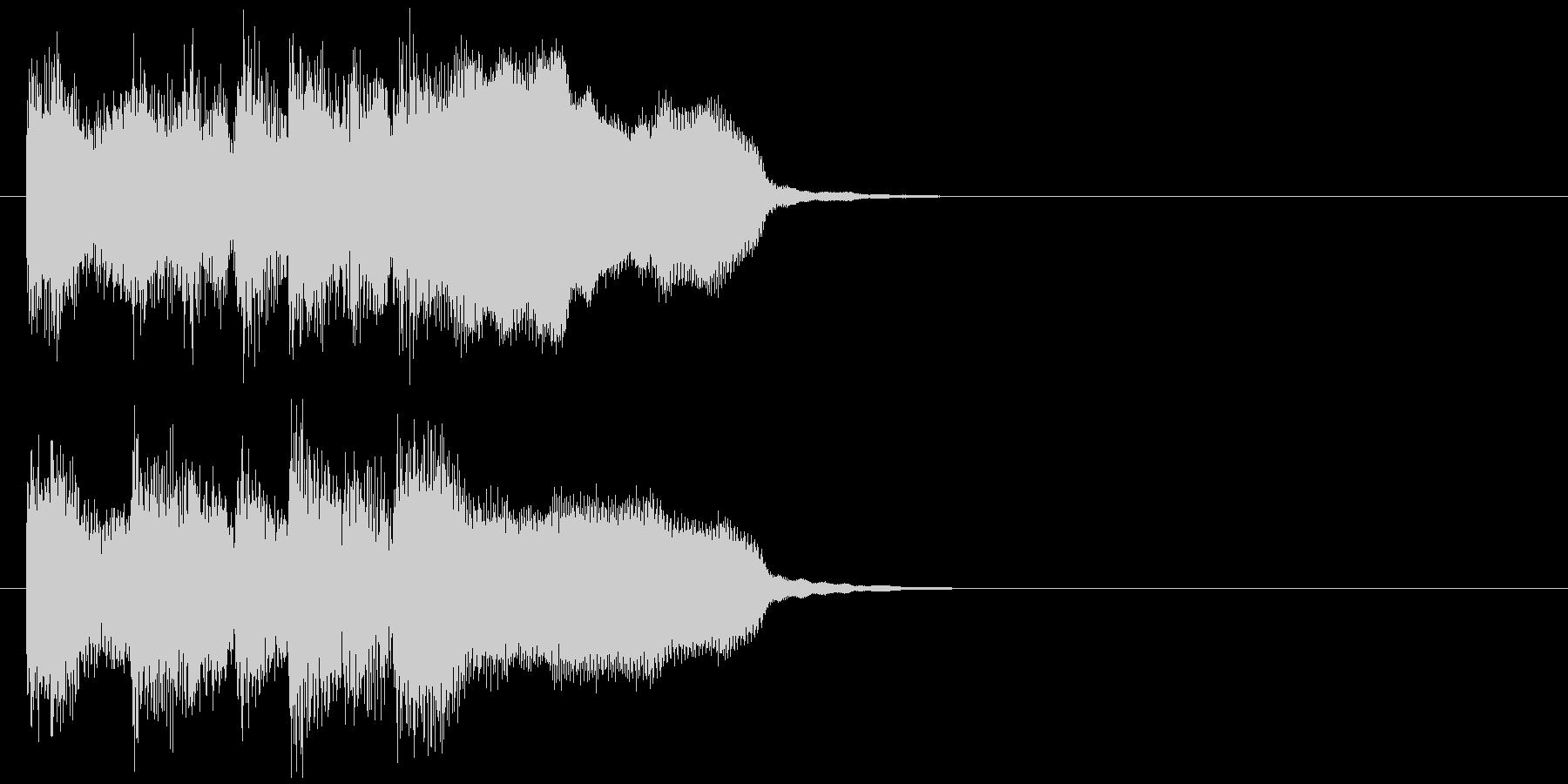 生演奏フルートのお洒落なサウンドロゴの未再生の波形
