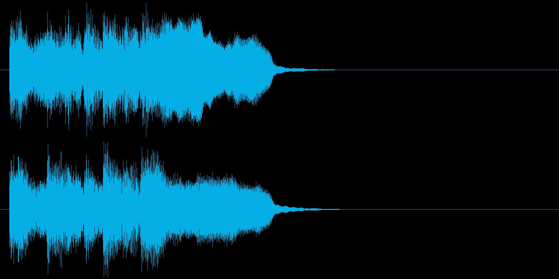 生演奏フルートのお洒落なサウンドロゴの再生済みの波形