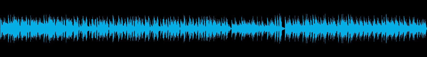企業PV的ボサノバ風ループ音源の再生済みの波形