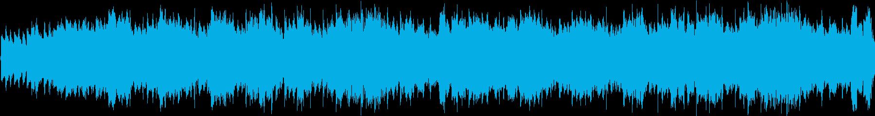 ワルツのリズムが怪しげなホラーなループ曲の再生済みの波形