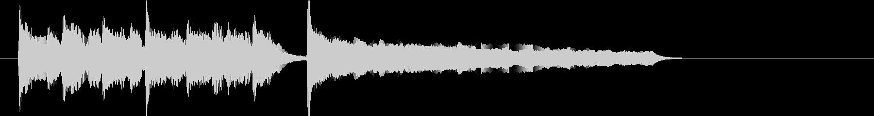 ブルースの定番!軽快なピアノジングルの未再生の波形