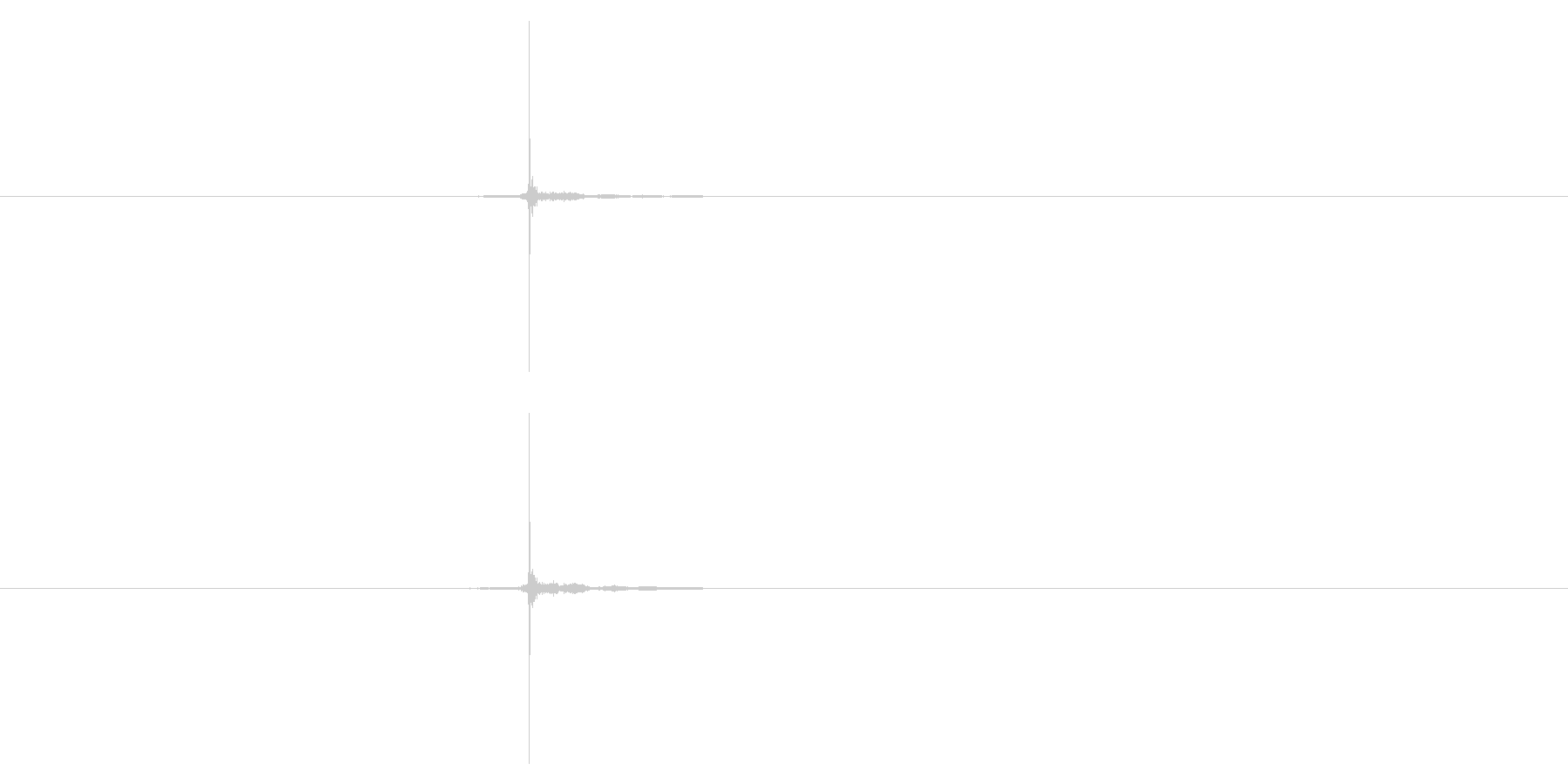 【録音】コイントスの音の未再生の波形