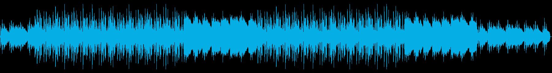水中をイメージさせる曲の再生済みの波形
