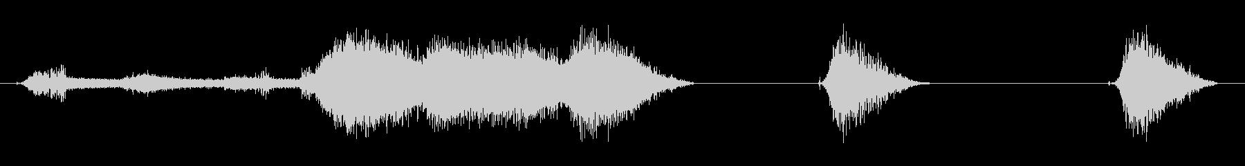 ドリル、インパクト、ランニングx3の未再生の波形