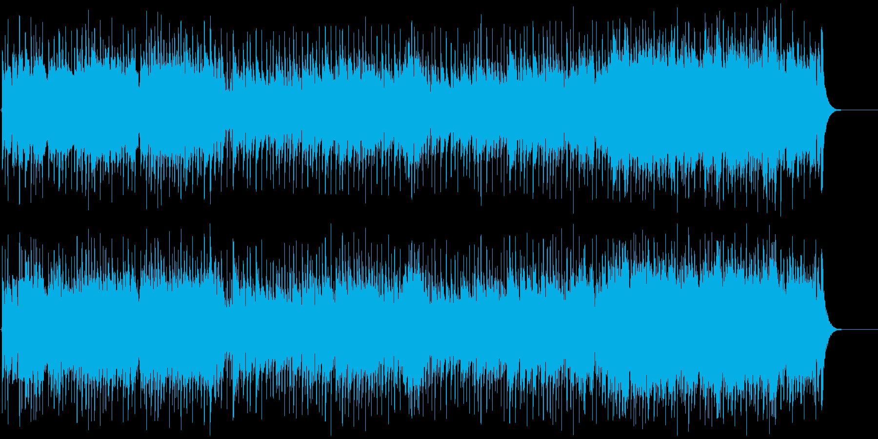 ポップで明るい気持ちになれるBGMの再生済みの波形