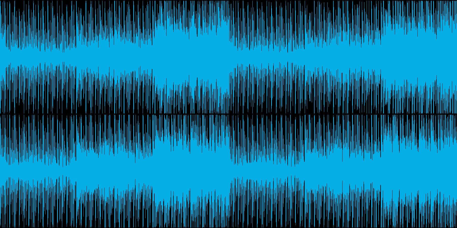 緊張感のあるニュース番組などに。ループ可の再生済みの波形
