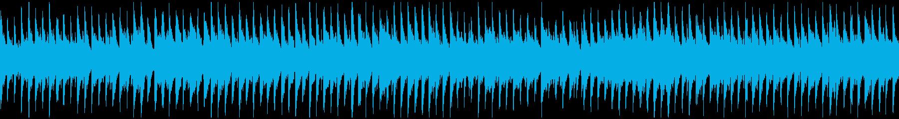 コロコロとした跳ねるウクレレ曲※ループ版の再生済みの波形