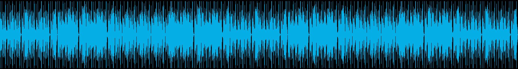 特徴的なリズムのキラキラシンセポップの再生済みの波形