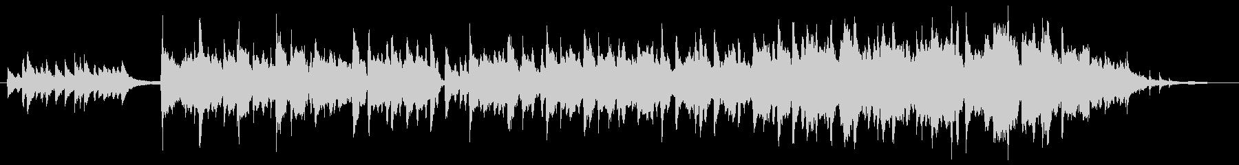 尺八、琴の優しいメロディーのジングルの未再生の波形