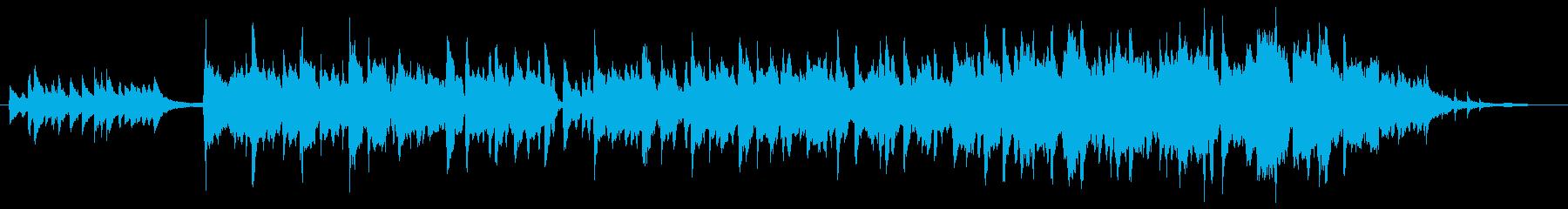 尺八、琴の優しいメロディーのジングルの再生済みの波形