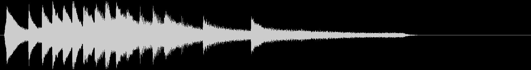 透明感のあるサウンドロゴ ピアノソロ 2の未再生の波形