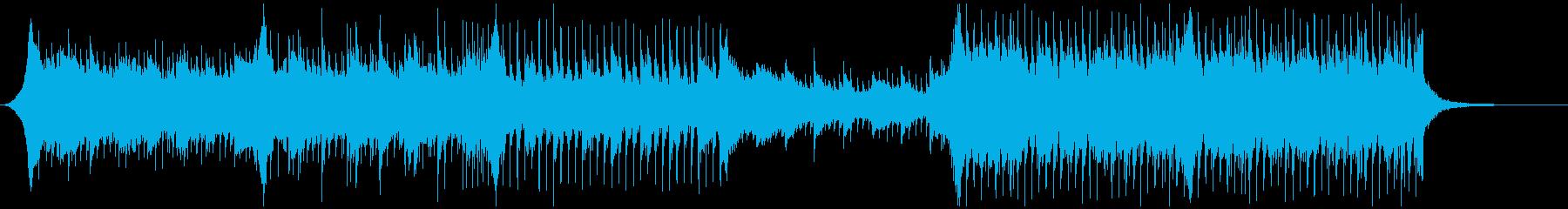 テンポの良いハウスミュージックの再生済みの波形