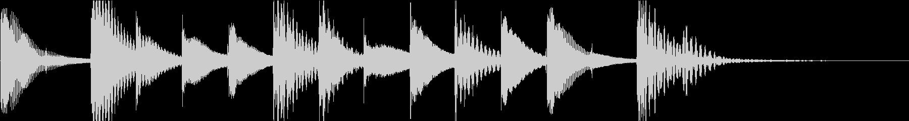 マリンバのほのぼのとしたジングル5の未再生の波形