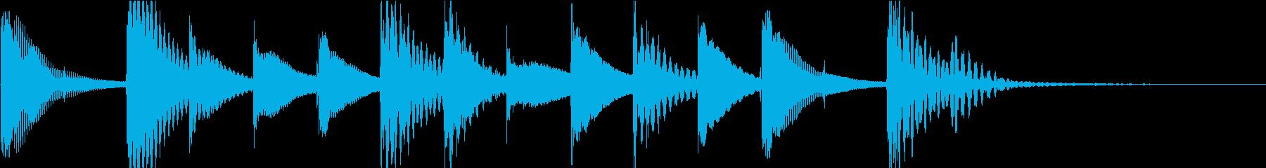 マリンバのほのぼのとしたジングル5の再生済みの波形