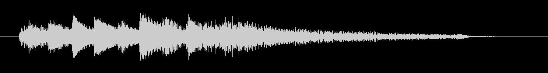 チャプター・場面転換等にピアノジングルLの未再生の波形