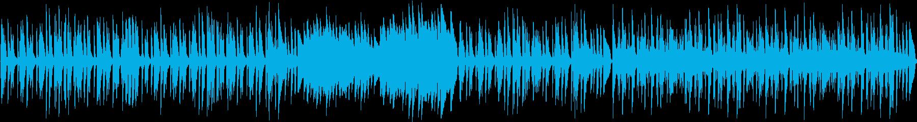キラキラ跳ねる明るく可愛いワルツ(ループの再生済みの波形