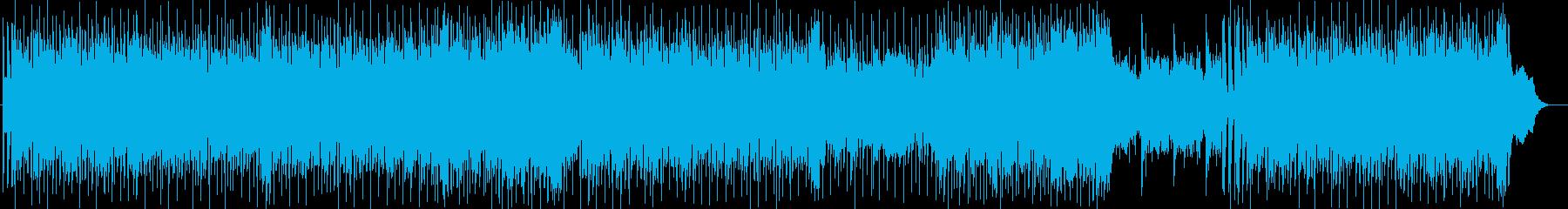明るく元気なシンセサイザー楽曲の再生済みの波形