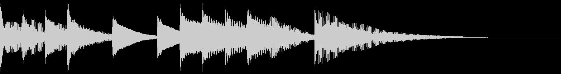 軽快なマリンバが印象的な可愛いジングルの未再生の波形