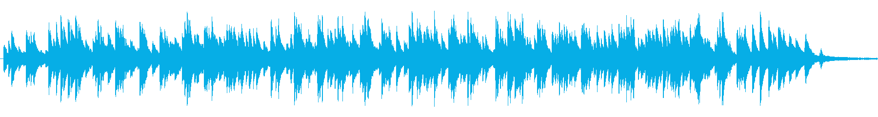 少しブルージーな「アメイジンググレイス」の再生済みの波形