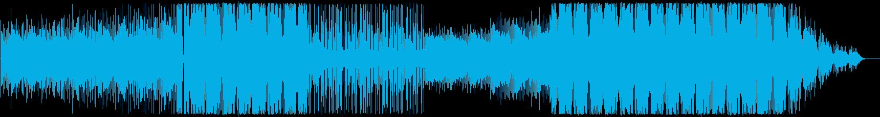 聞きやすい最新のEDMポップスサウンドの再生済みの波形