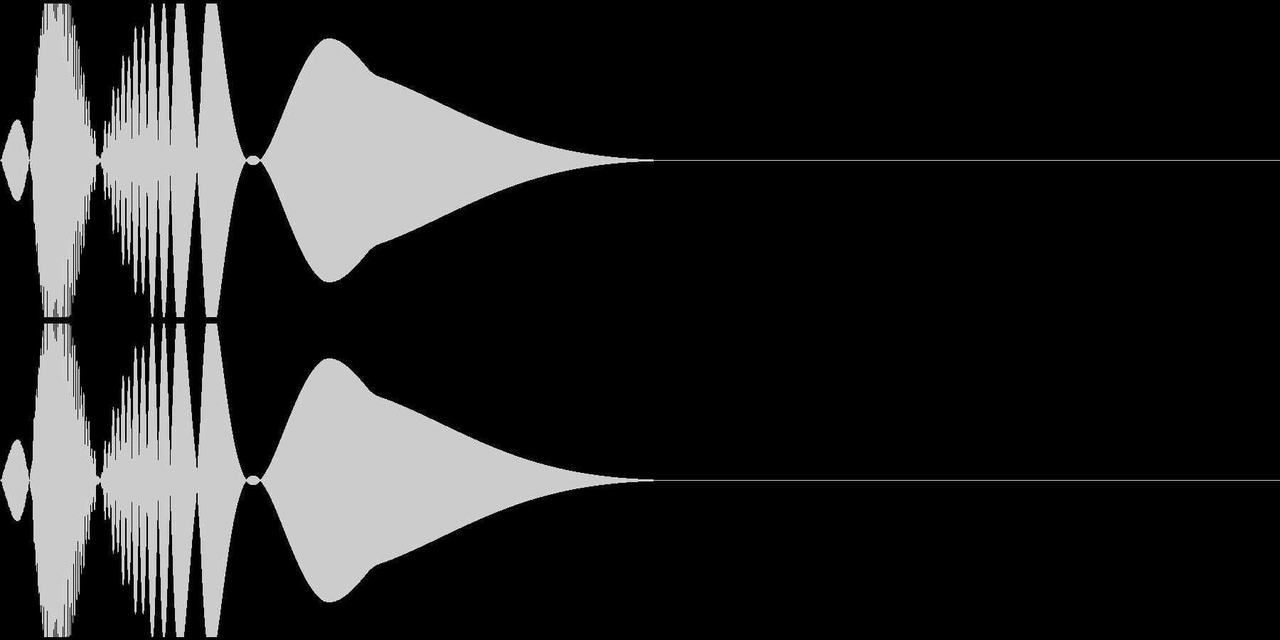 ピュン(ファミコン/キック/低音/ドラムの未再生の波形