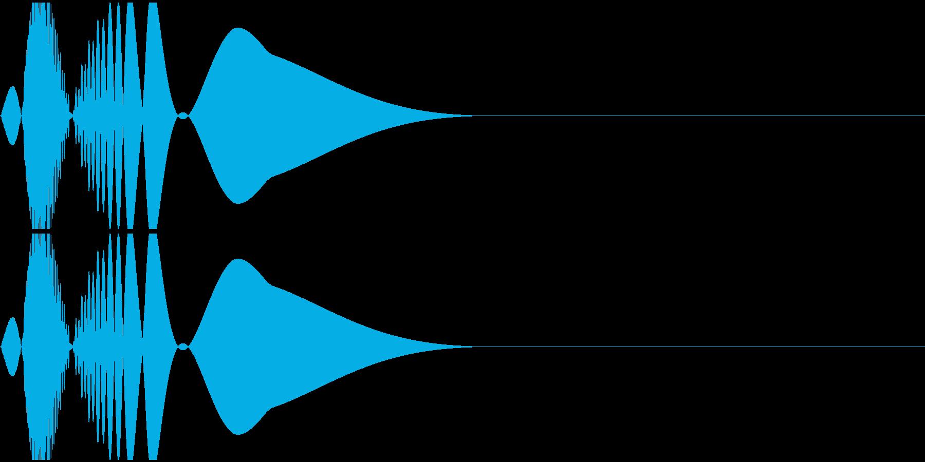 ピュン(ファミコン/キック/低音/ドラムの再生済みの波形