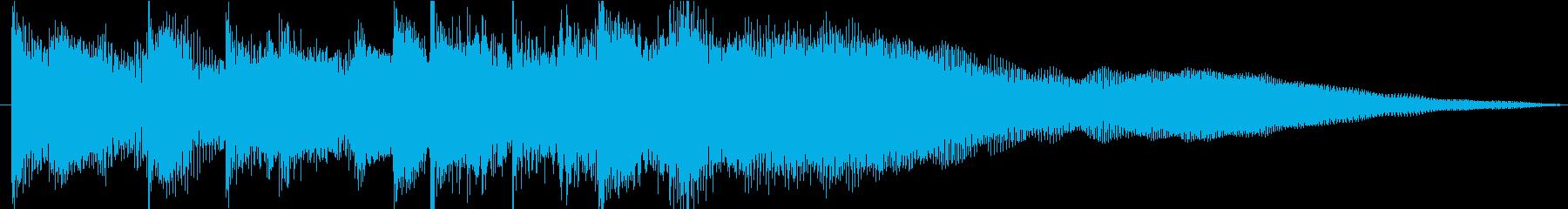 ハワイアン風 ジングルの再生済みの波形
