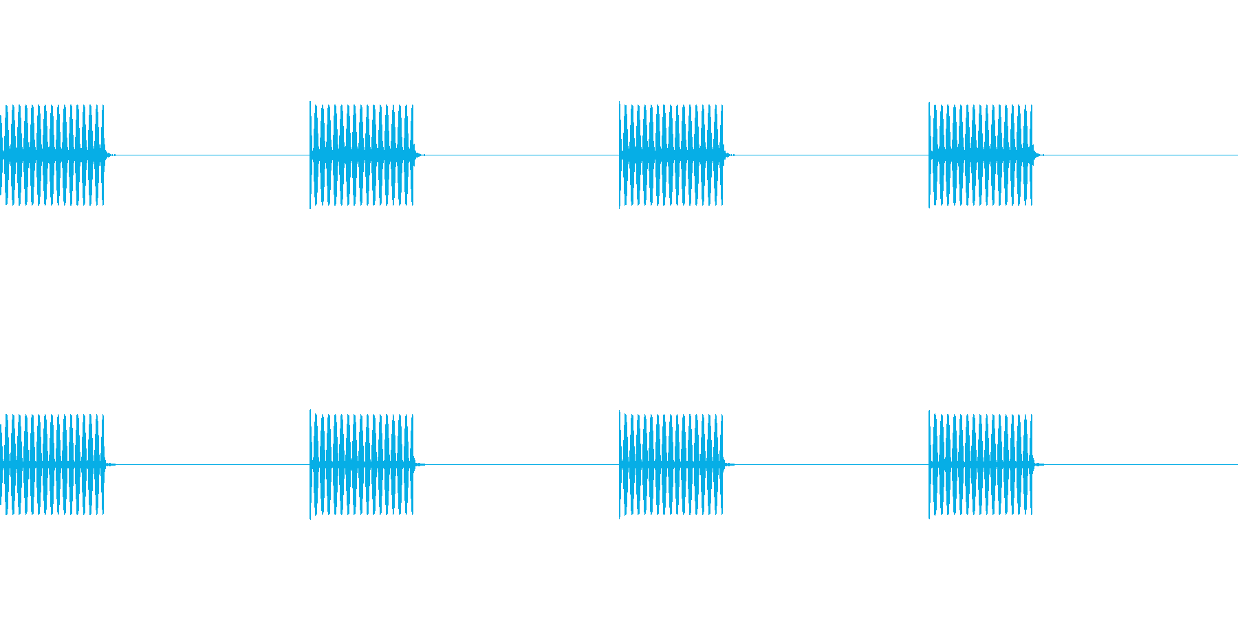 【電話 信号音01-1(呼出)】の再生済みの波形