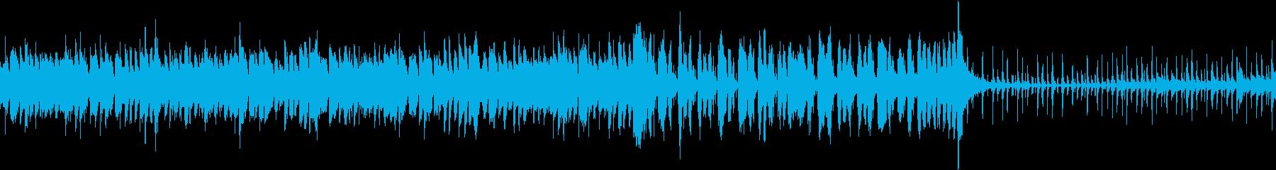 ループ可/ドタバタ大騒ぎする賑やかな楽曲の再生済みの波形