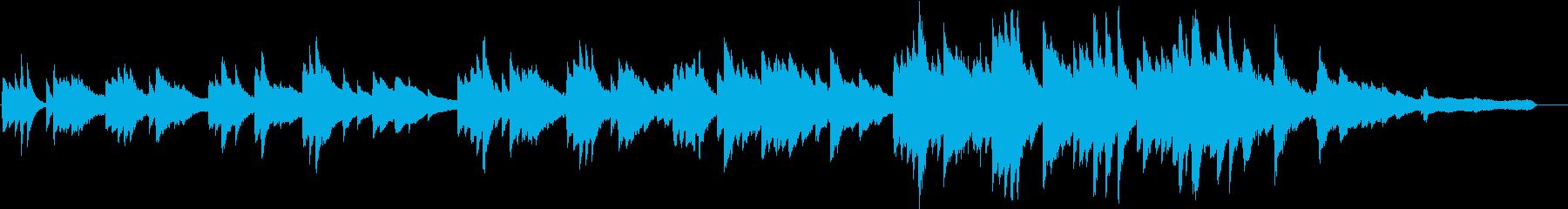 ほんわかとしたピアノバラードの再生済みの波形