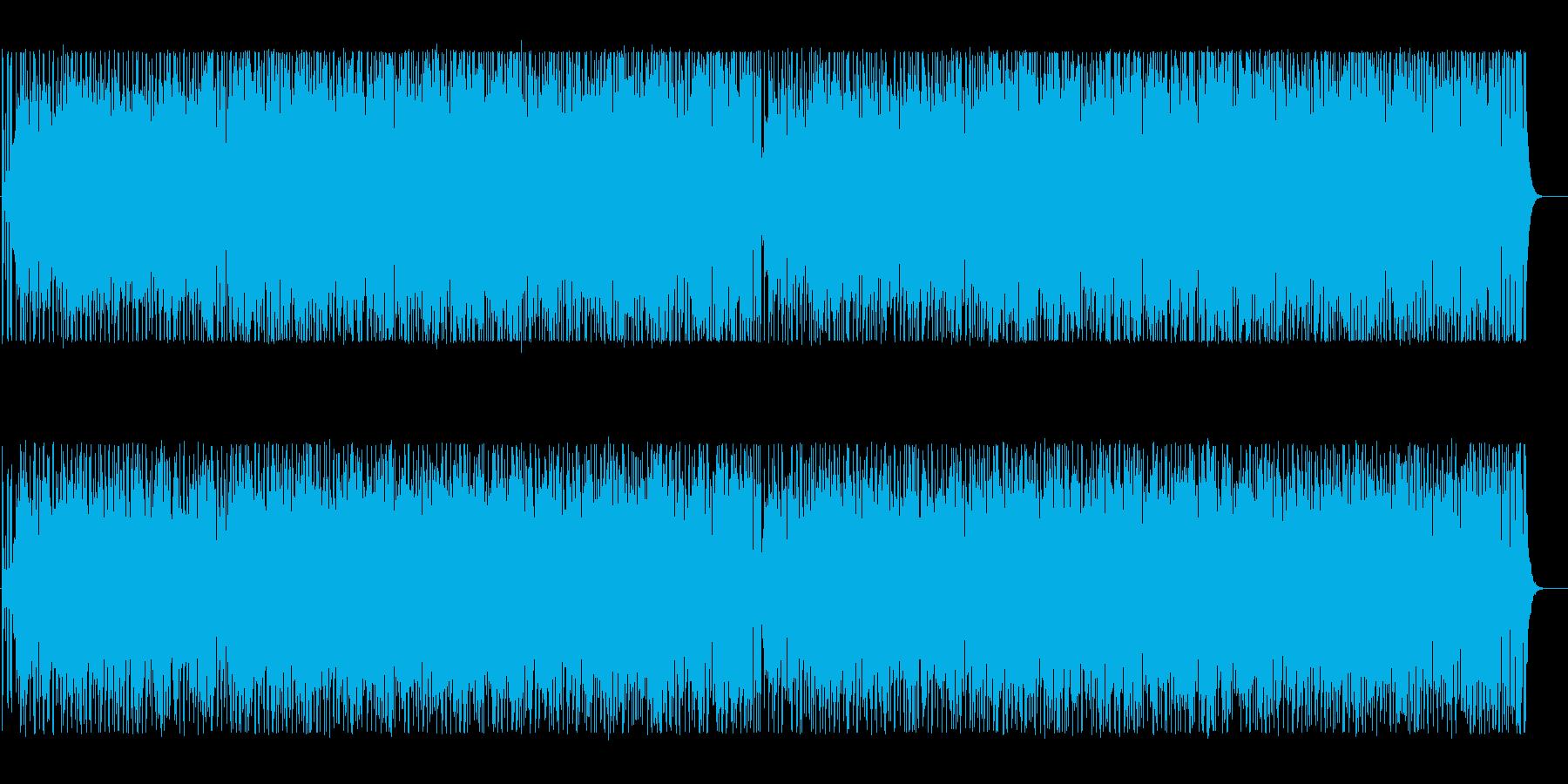 軽快なラテン調のBGMの再生済みの波形