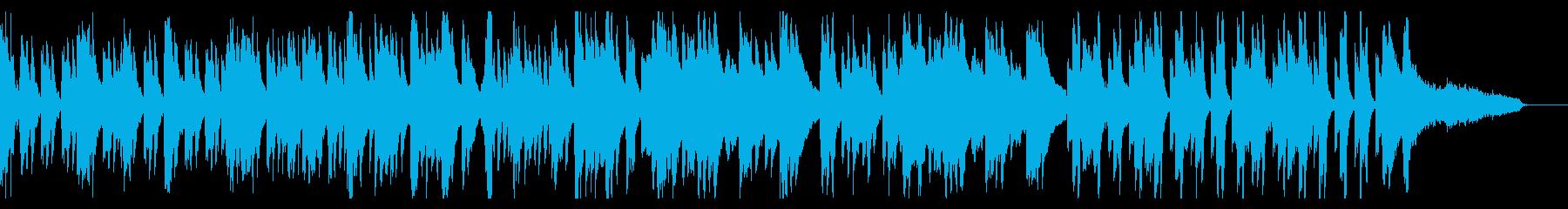 のどかでゆったり、シンプルな日常曲の再生済みの波形