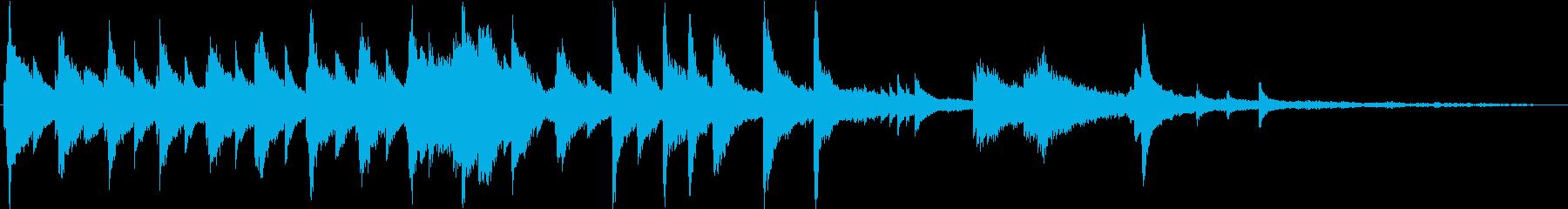 約50秒。感傷的な短いピアノソロ楽曲の再生済みの波形