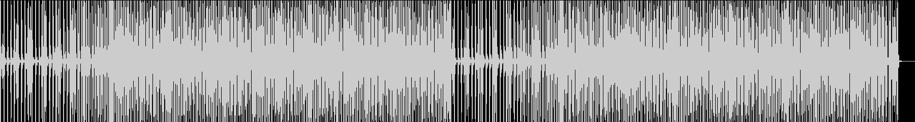 怪しく静かなハウスの未再生の波形