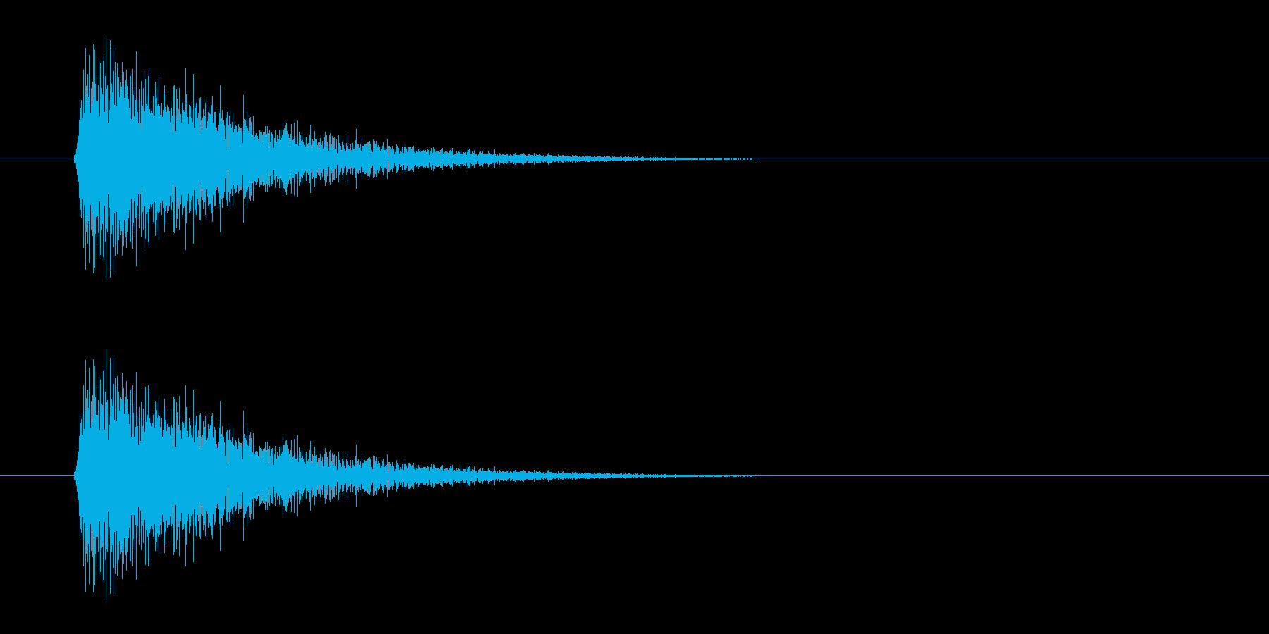 レーザー音-06-3の再生済みの波形