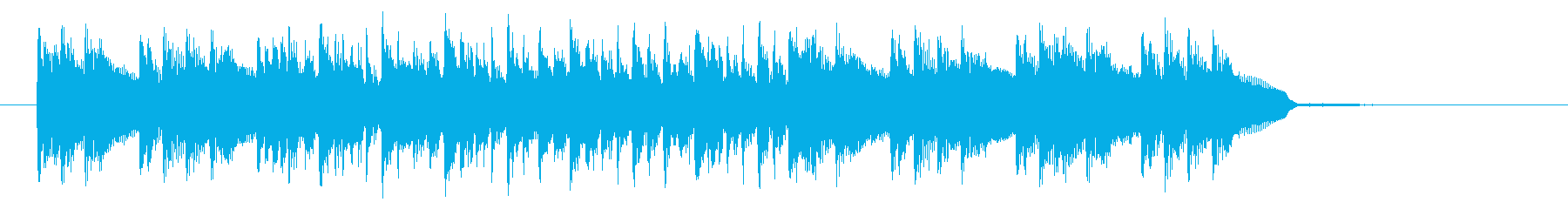 ロックなビート感溢れるテクノジングルの再生済みの波形