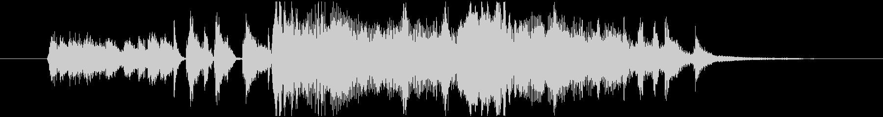 レトロサウンドのジングルの未再生の波形