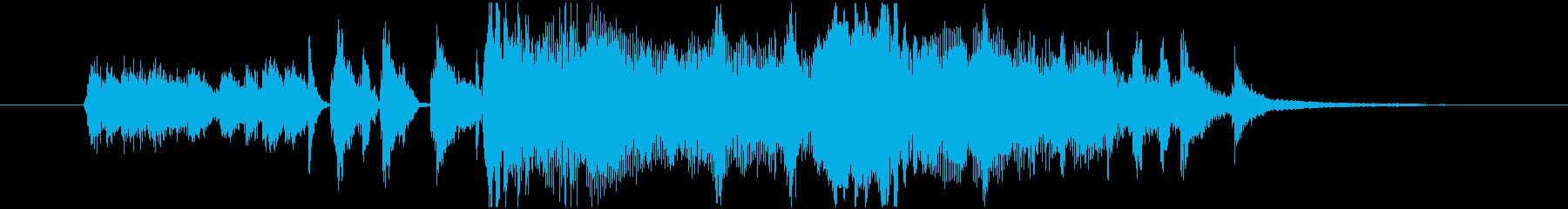 レトロサウンドのジングルの再生済みの波形