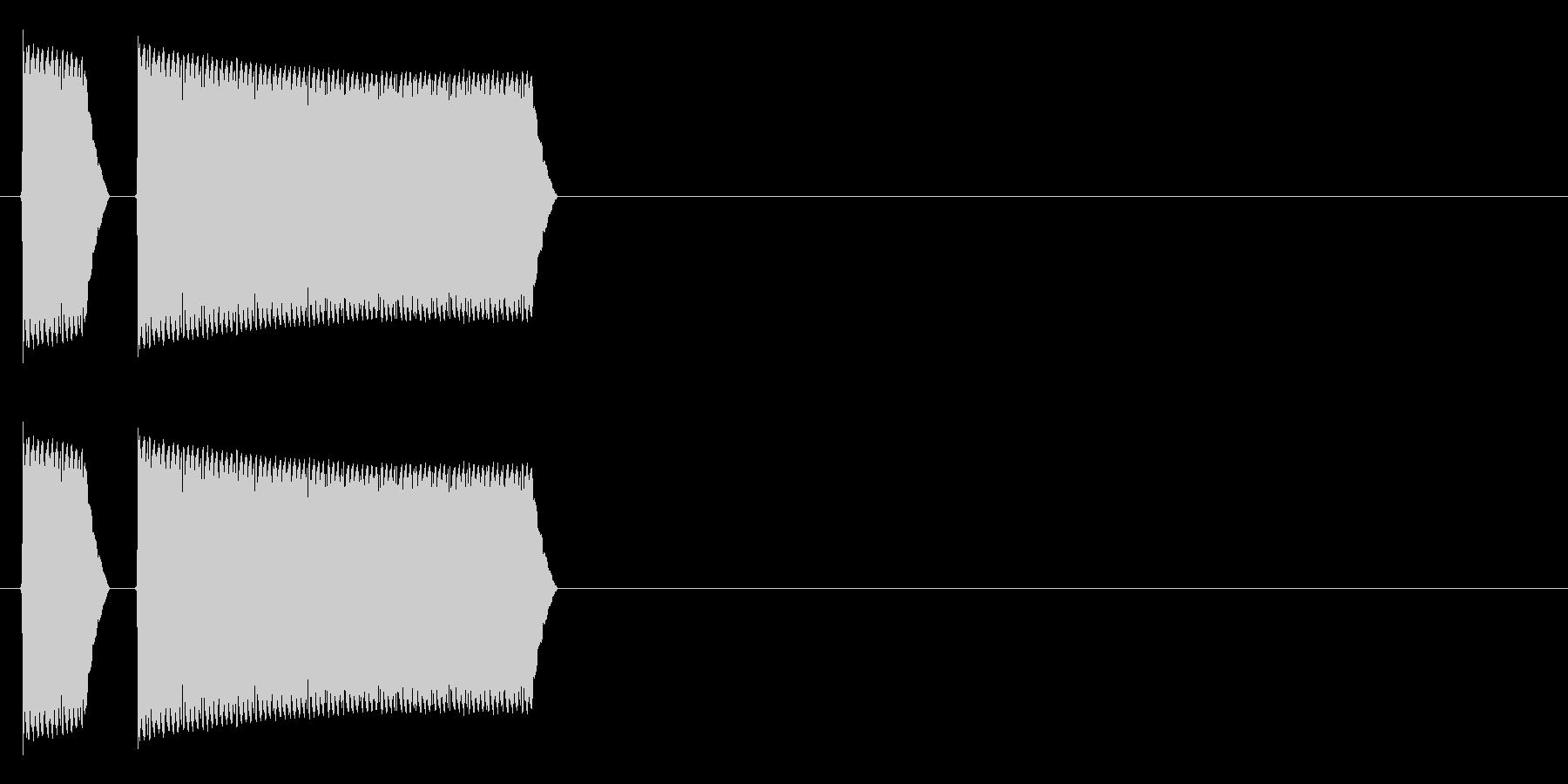 ブブーッ(不正解、禁止、警告音)の未再生の波形