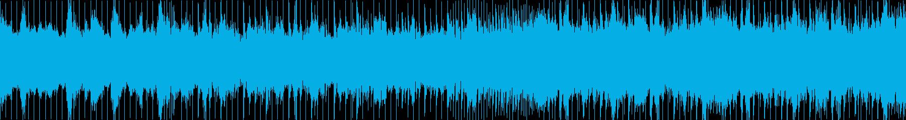 和風と現代音楽のごちゃ混ぜループBGMの再生済みの波形