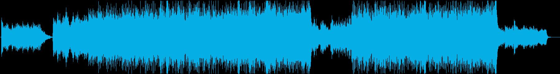 J-POP風クリスマス曲+ジングルベルの再生済みの波形