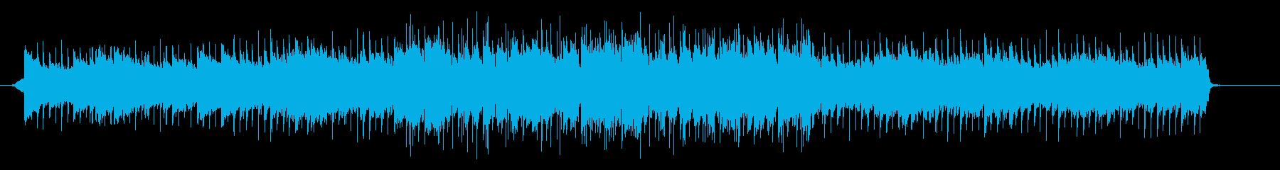 ピアノループを中心とした前向きになれる曲の再生済みの波形