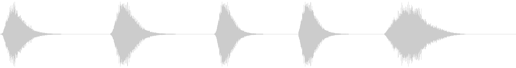 メタリックウーシャ1-5の未再生の波形