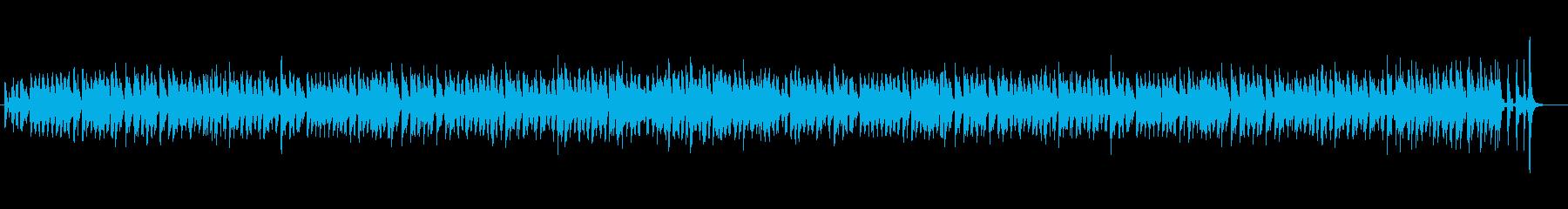 ワクワクするジャズピアノトリオの再生済みの波形