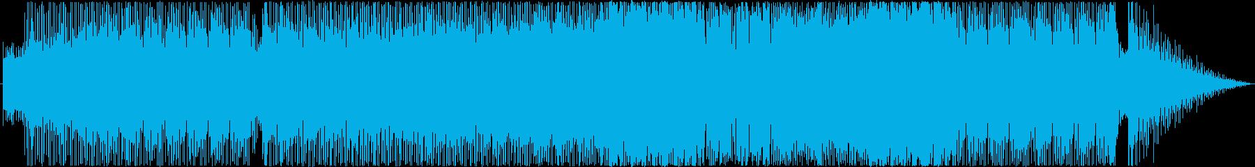 シャッフルビートのファンキーな曲の再生済みの波形