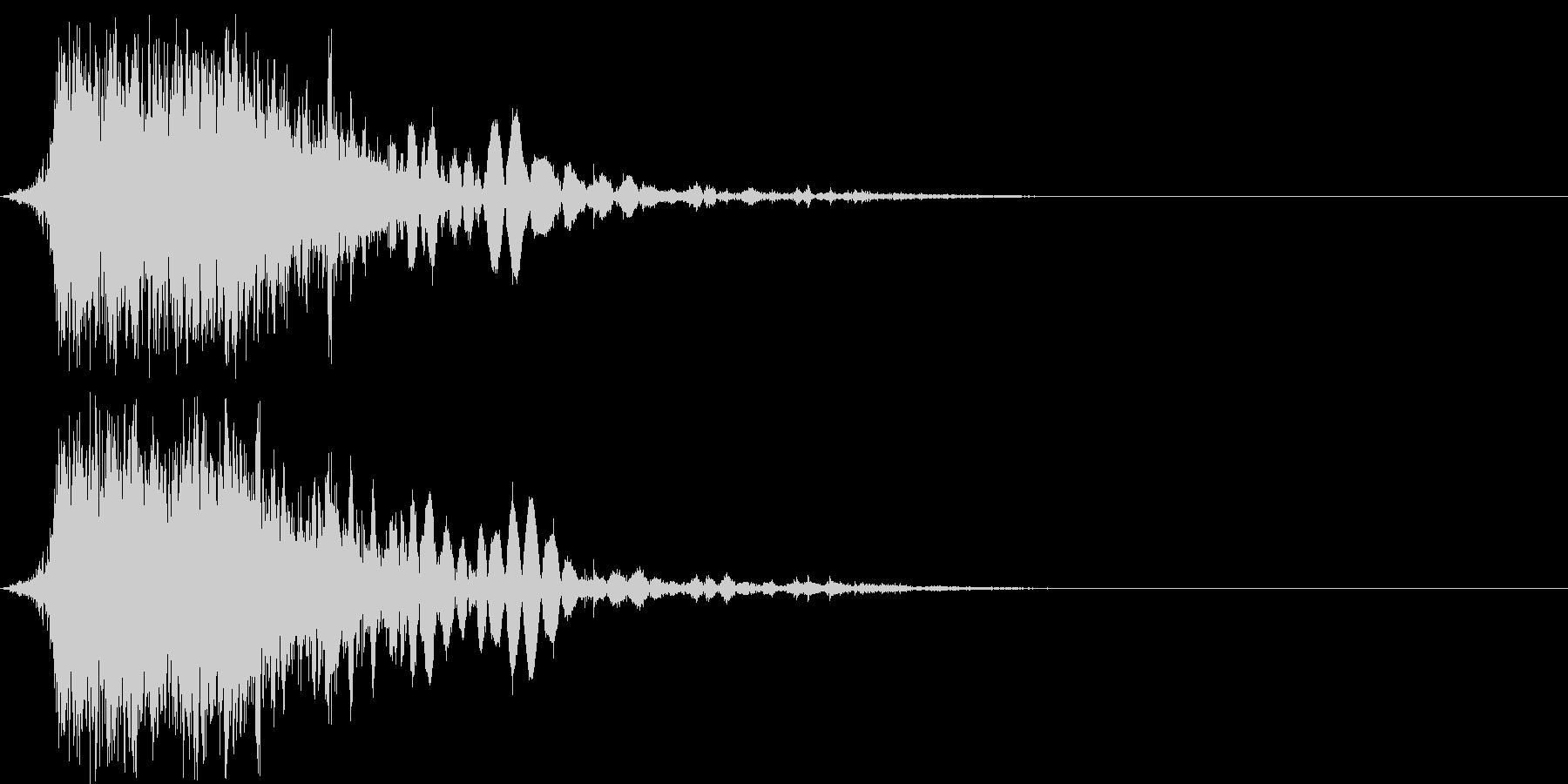 斬撃音(刀や剣で斬る/刺す効果音)06bの未再生の波形