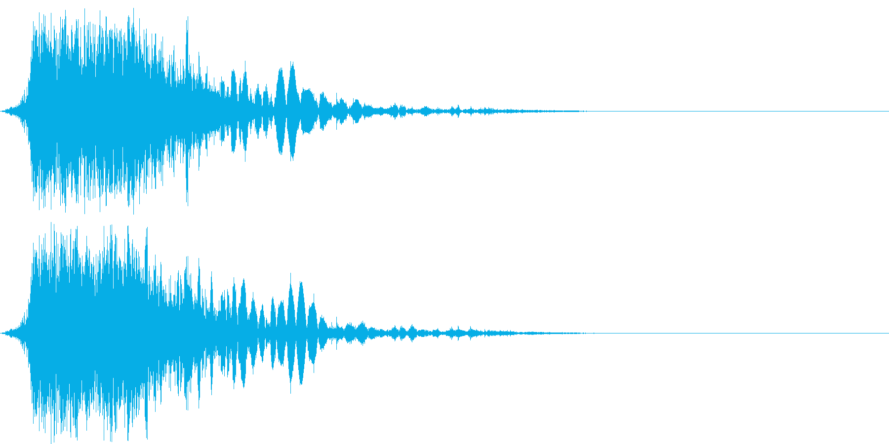 斬撃音(刀や剣で斬る/刺す効果音)06bの再生済みの波形