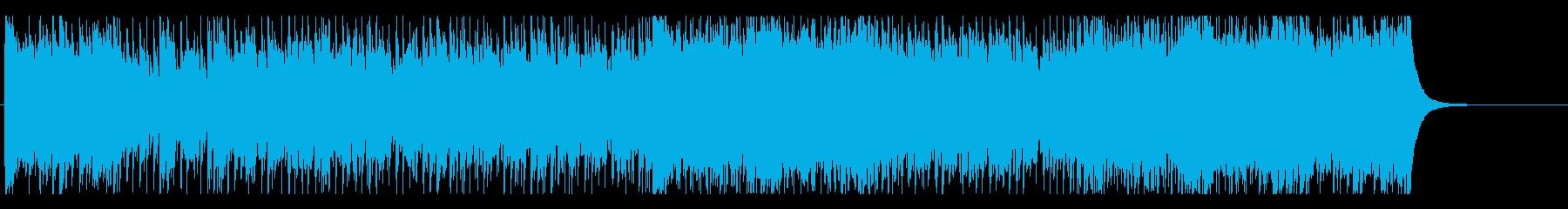 天気番組、情報向けのニュース系BGMの再生済みの波形