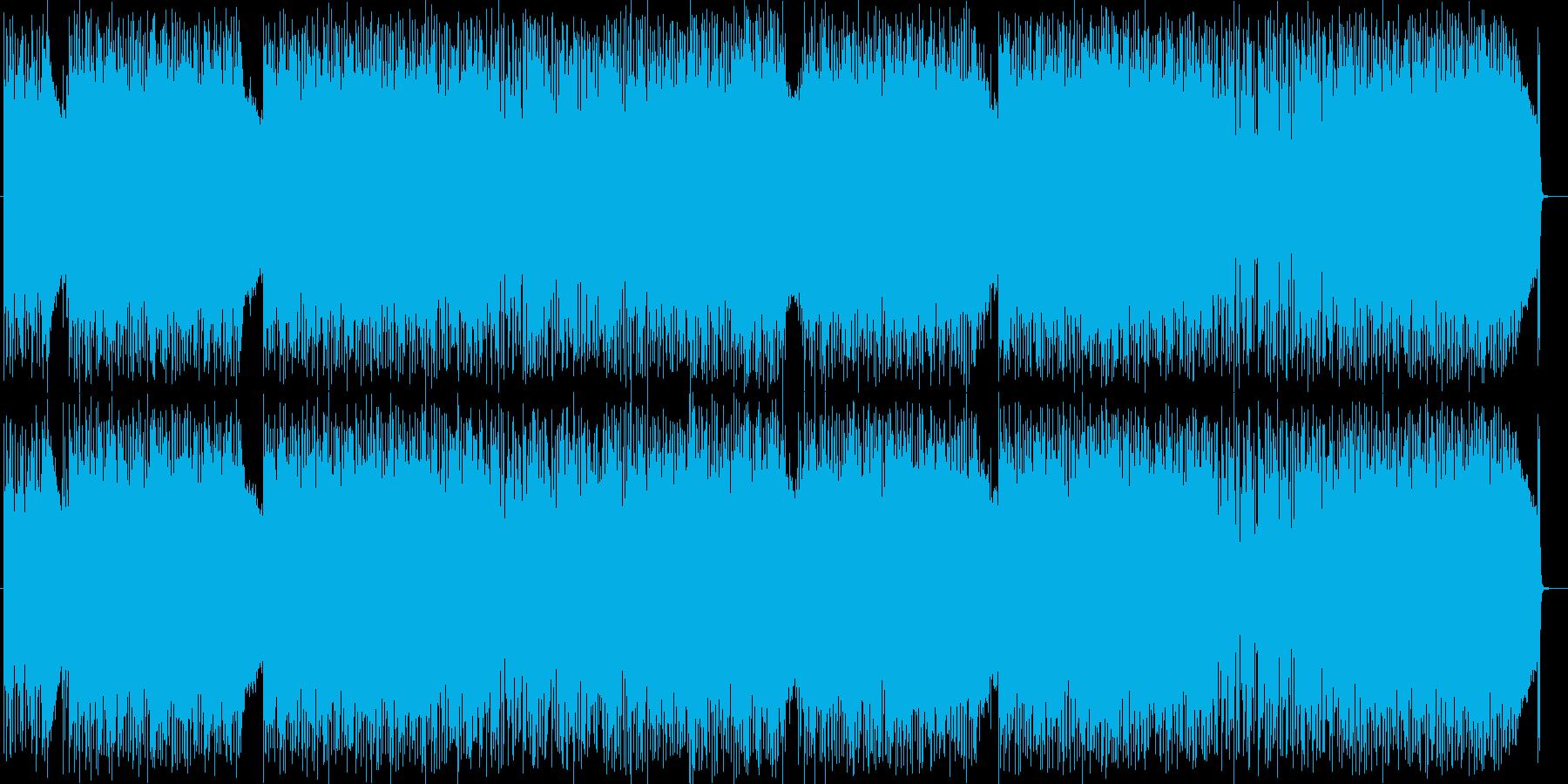 力強いギターの効いたハードロックな曲の再生済みの波形